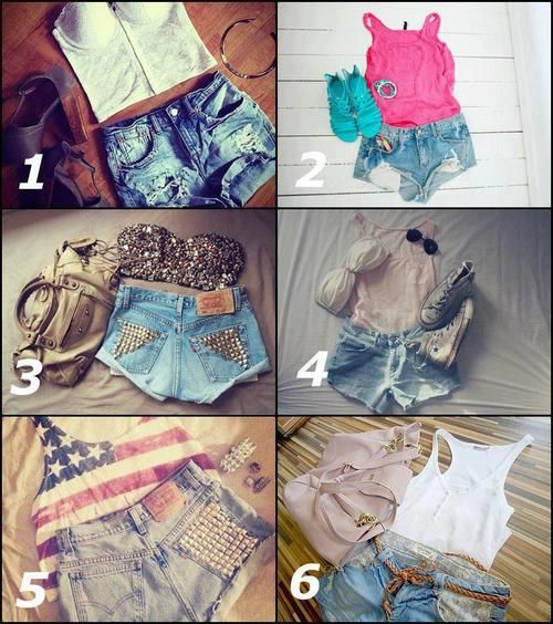I personally like 4,5,and 6  I think they are great clothes to where on and hit day at school or in the summer. it's a cute fashion I would totally where!!! teens • girls • School • summer • adorable outfits •  • dates