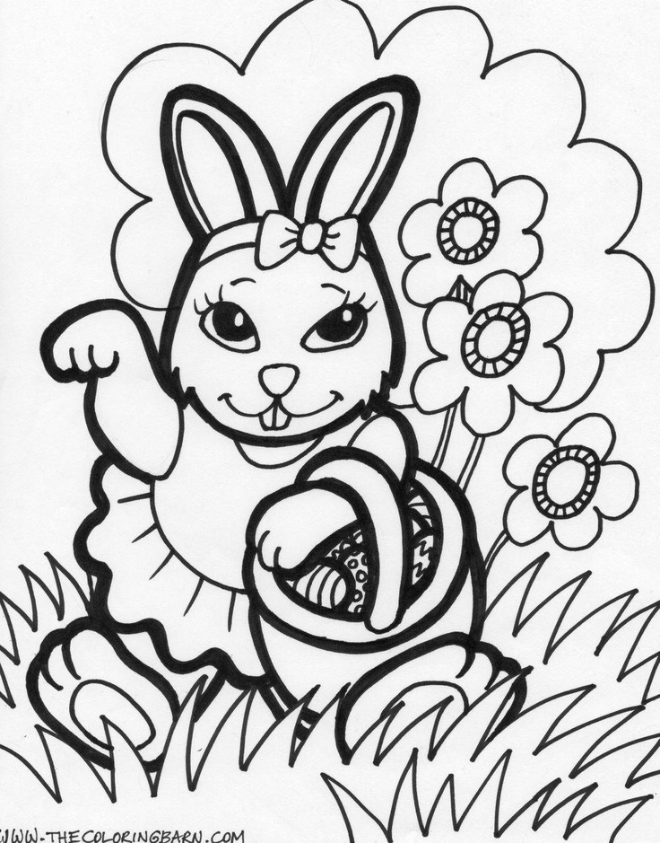 Easter Bunny Coloring Printable Pages Sheets For Kids Get The Latest Free Images Favorite To Print Online