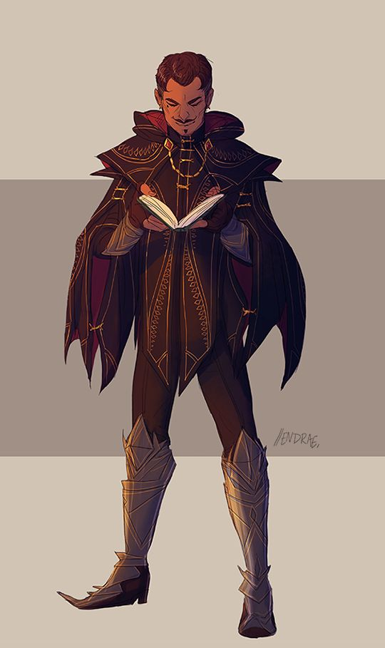 "Dragon Age Inquisition Character Design Ideas : Endrae "" colored the earlier tevinter inspired designs"