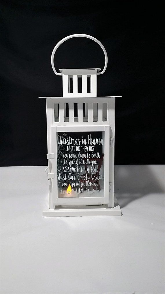 Christmas in Heaven Lantern, Christmas Memorial Gift, Bereavement Gift,  Lost Loved One at Christmas,