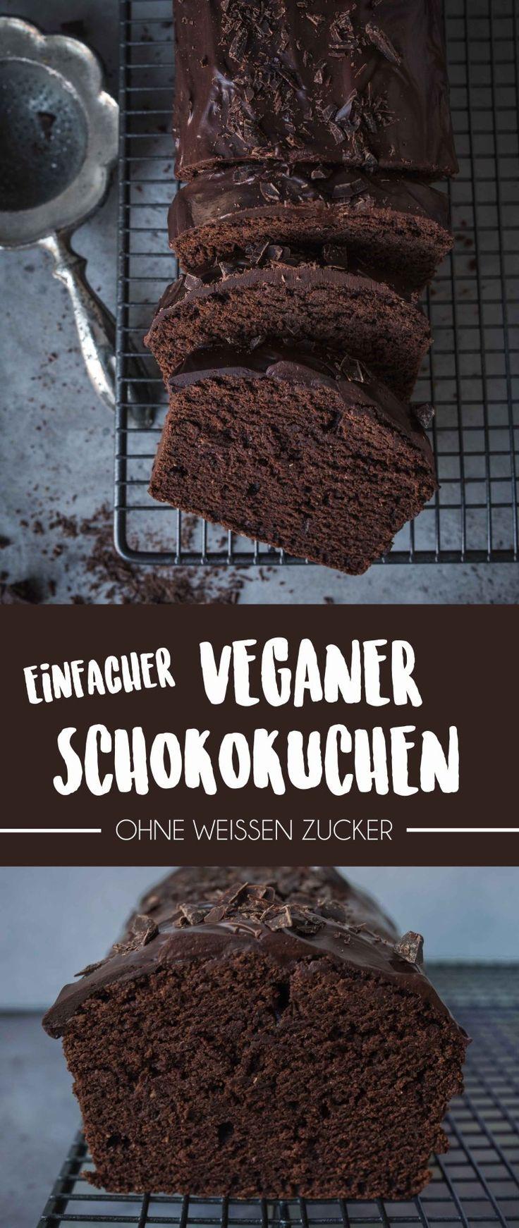 Einfacher Veganer Schokoladenkuchen (Gemacht in unter 1 Stunde)