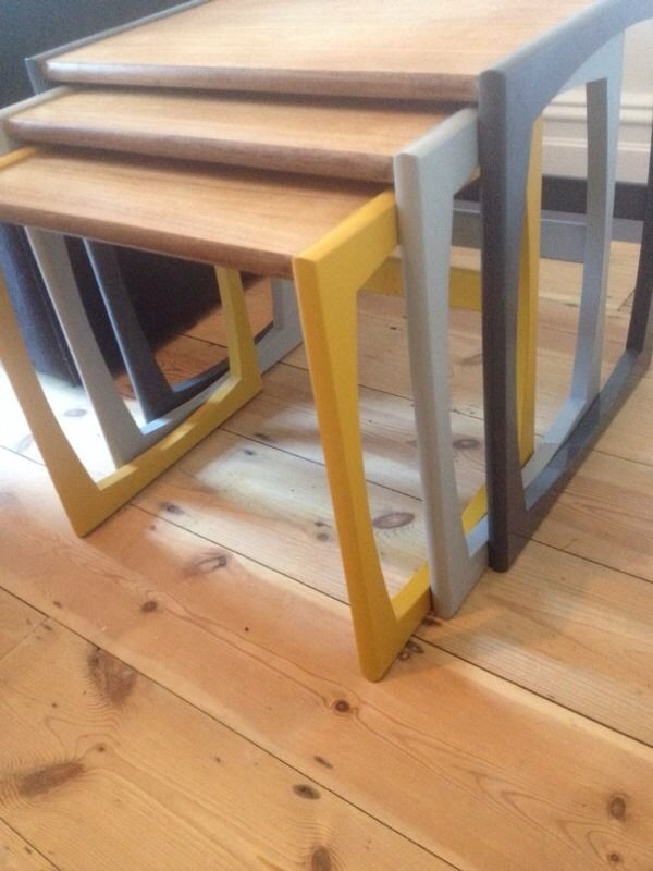 upcycled g plan nest of tables - Google Search