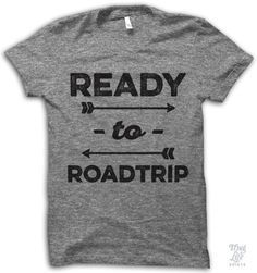 Ready to roadtrip, always! Digitally printed on an athletic tri-blend t-shirt. You'll love it's classic fit and ultra-soft feel. 50% Polyester / 25% Rayon / 25% Cotton. Each shirt is printed to order