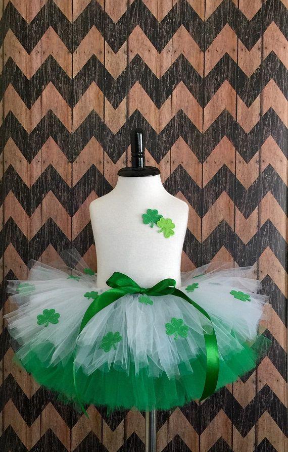 St. Patricks Day tutu and matching headband  by mimislullaby