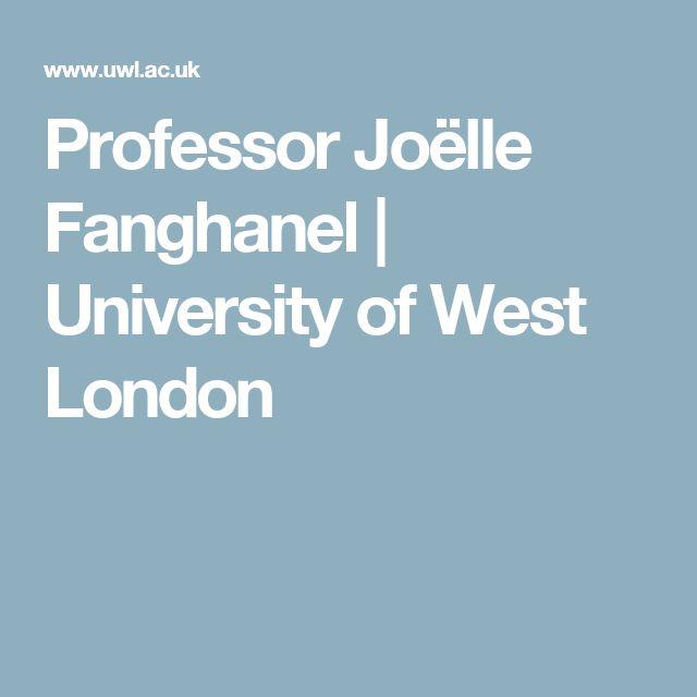 Professor Joëlle Fanghanel | University of West London