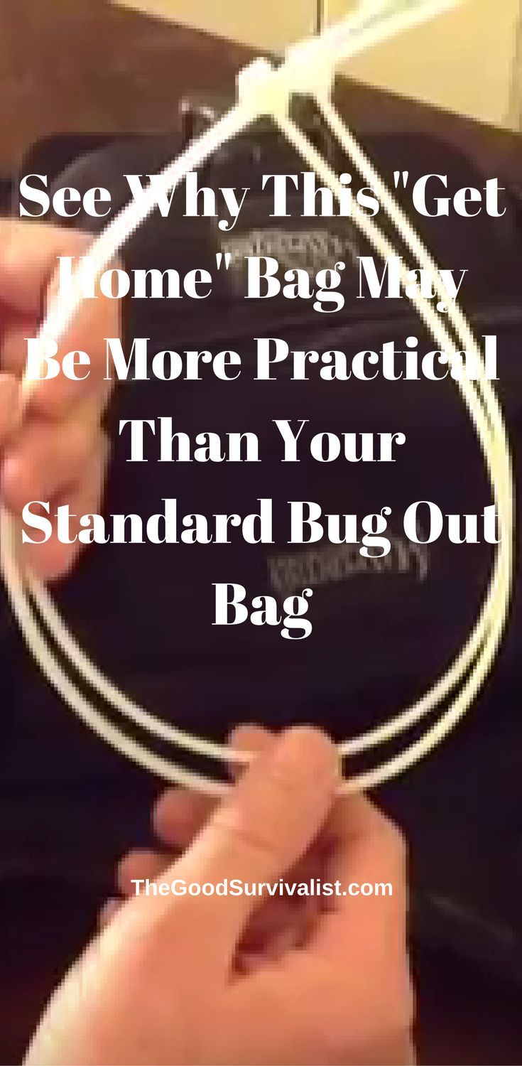 "See why this ""Get Home"" bag may be more practical than your typical bug out bag.  http://www.thegoodsurvivalist.com/bug-out-bags-are-good-but-this-get-home-bag-is-great-and-more-practical-heres-why/"