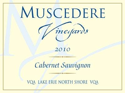 Muscedere Vineyards wine label.