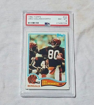 1982 Topps Football #44 Cris Collinsworth RC Rookie Bengals PSA 8