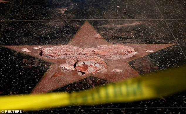 The star was destroyed by millionaire activist James Otis, 52, an heir to the Otis Elevator Company fortune