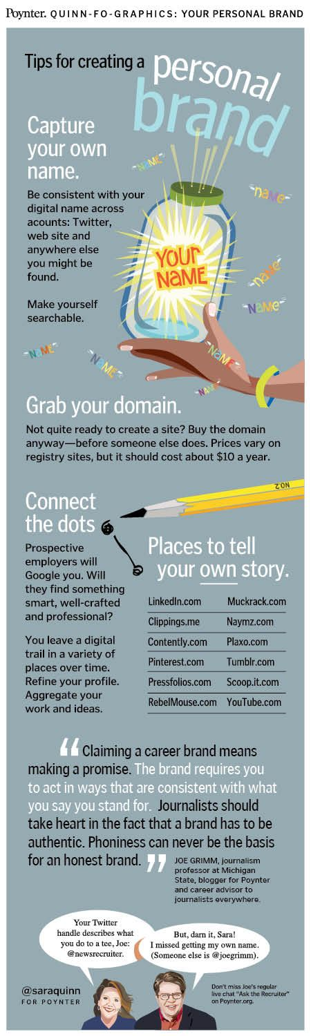 Tips for creating personal brand #infographic