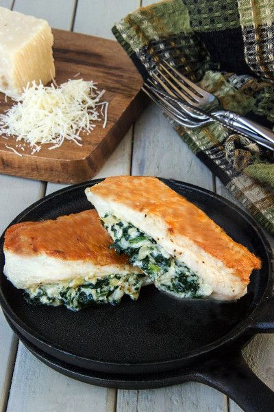 Spinach Artichoke Stuffed Chicken - it's what's for dinner!