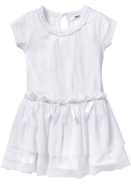 Платье с тюлем, bpc bonprix collection, белый