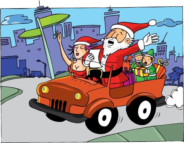 Papá Noel - ilustración Freddy Leal