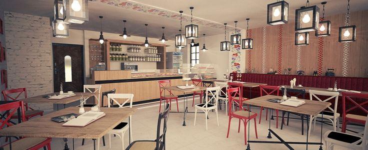 Bistro & bakery project -rendering