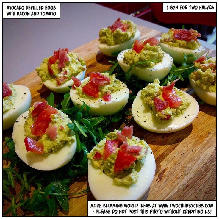 avocado devilled eggs - an excellent snack idea - twochubbycubs
