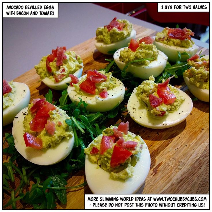 avocado devilled eggs - an excellent snack idea - twochubbycubs