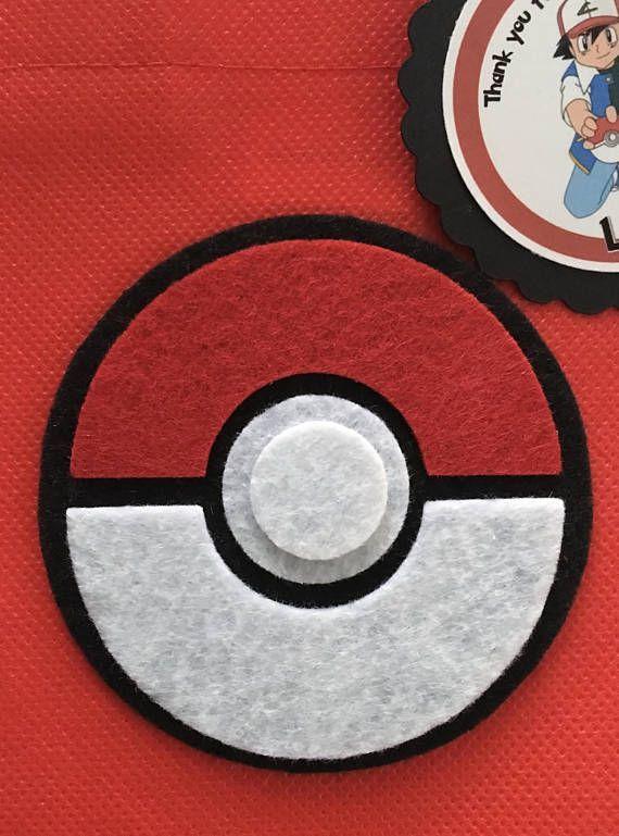 Juego de 12 bolsas Favor de Pokemon con personalizada gracias