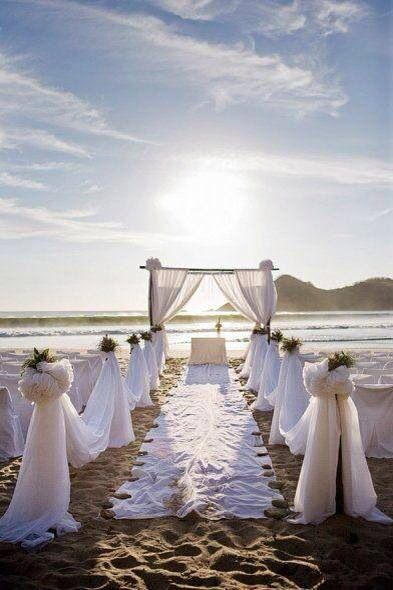 Playa o jardin decoracion de bodas