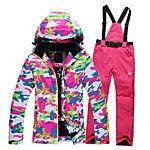 Ski Wear Ski/Snowboard Jackets / Clothing Sets/Suits Women's Winter Wear Polyester Camouflage Winter ClothingWaterproof / Thermal / Warm 2017 - $99.99