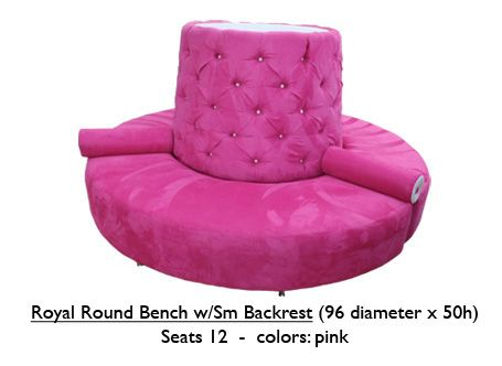 Pink Round Bench Benches Pinterest Pink Benches And Tufted Bench