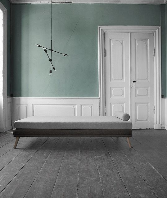 sofakompagniet | AMM blog... l like this idea of very neutral black/white/gray furniture with gray/green walls