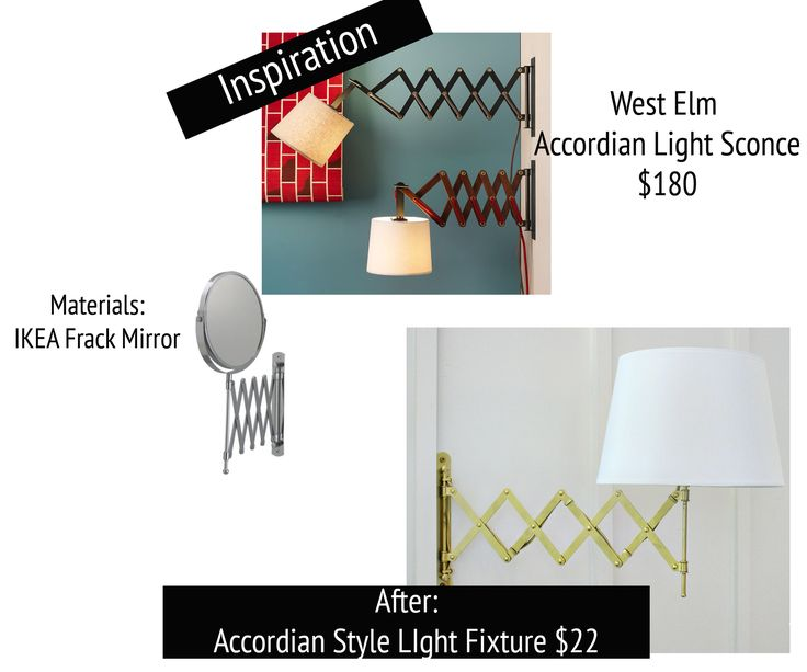Inspired Design Challenge Week 3: West Elm Wall mounted lamps, The white and Bedside lamp