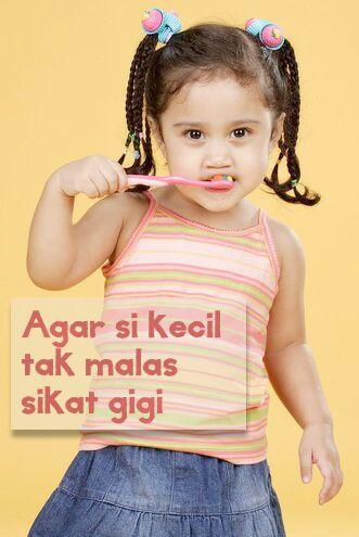 Agar si kecil tak malas sikat gigi :: How To Make Teeth Brushing Fun For Kids :: Toddler Toothbrushing Tips