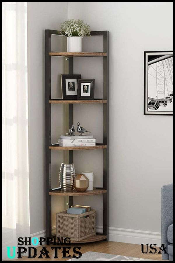5 Tier Corner Shelf In 2020 Shelf Decor Living Room Corner Shelves Living Room Room Decor