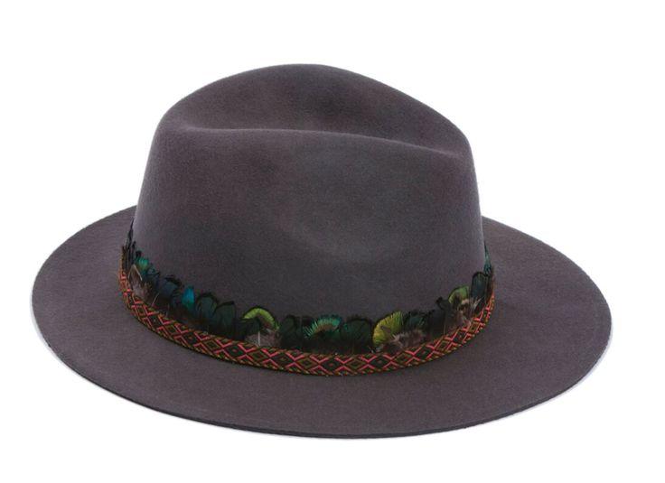 Chapeau en laine feutrée Gris by HIPANEMA