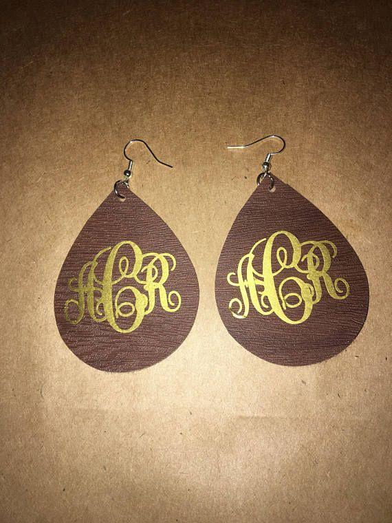 Faux Leather Earrings Silhouette Jewelry Silhouette Earring Leather Earrings