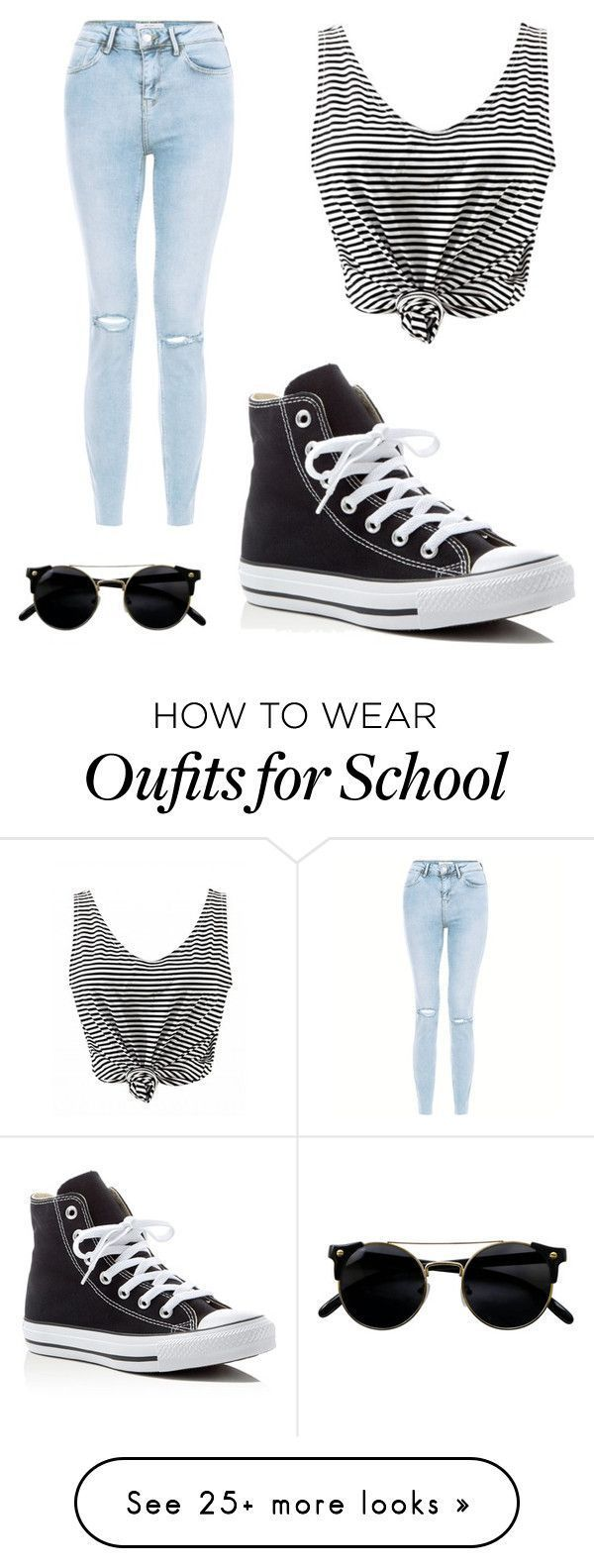 nice School by s42d9 on Polyvore featuring New Look and Converse - Kansas City Kitty - My blog dezdemonfashiontrends.xyz