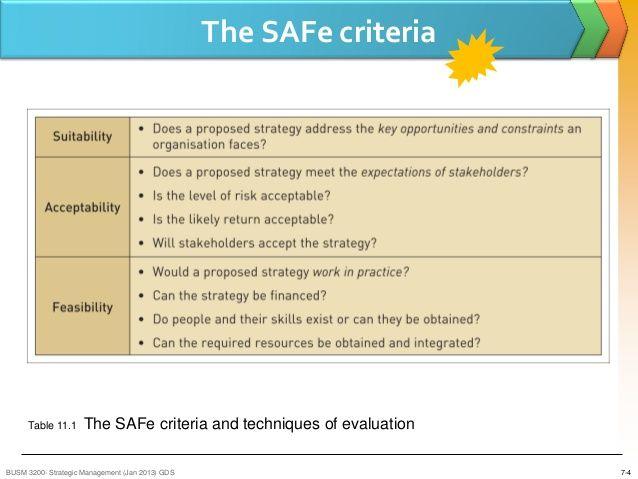 SAFe Criteria - Google Search
