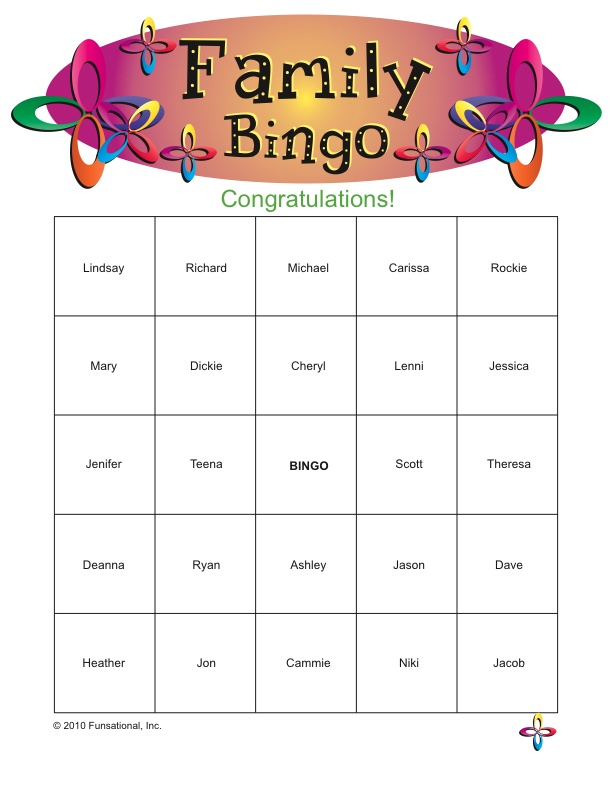 picture regarding Printable Family Reunion Games referred to as Printable Loved ones Reunion Routines Prices of the Working day