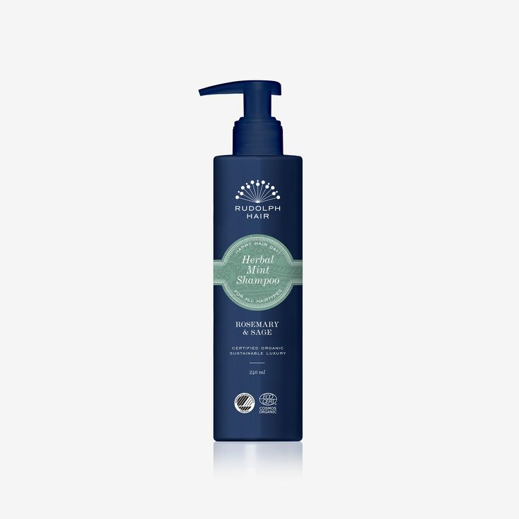 Herbal Mint Shampoo 240 ml fra Rudolph care - alternativt anden lækker shampoo der er svanemærker og/eller astma- og allergimærket