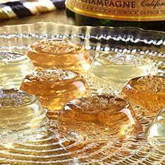 Jiggly Champagne Treats: Why should kids be the only ones to enjoy jiggly gelatin treats? This adults-only version is infused with fizzy champagne for a party treat worth toasting about. (Pssst ... you can make a kid-friendly batch with sparkling white grape juice!)