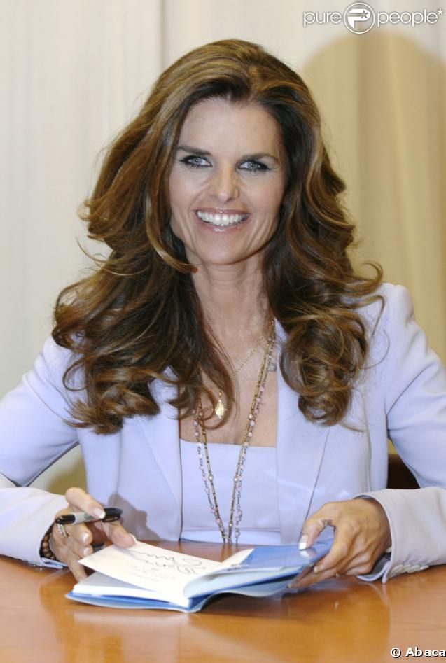 ** love her hair** Maria Shriver please follow me,thank you i will refollow you later