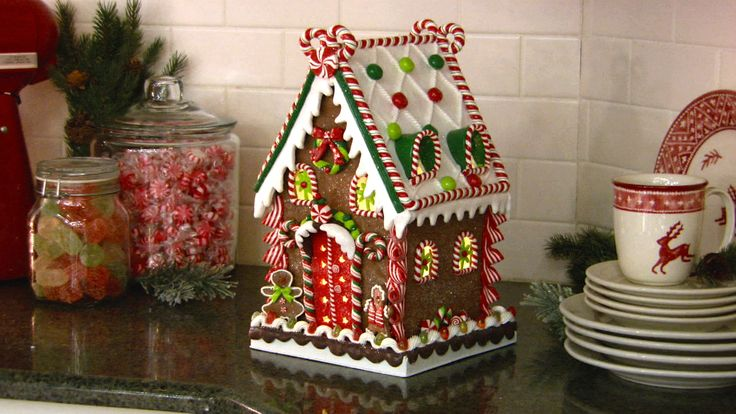 How sweet it is! Illuminated Gingerbread house H203147 http://qvc.co/-Shop-ValerieParrHill