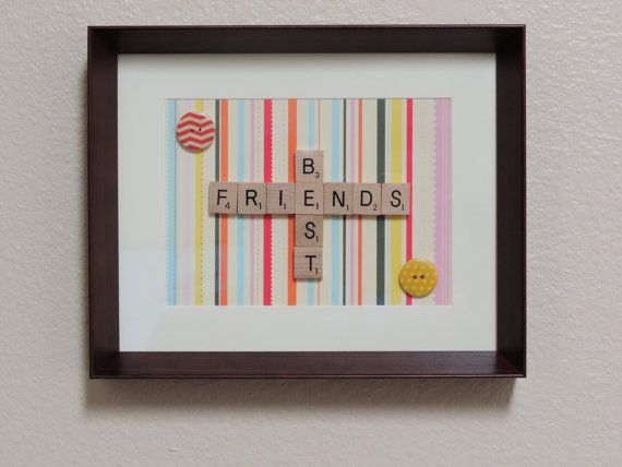 Scrabble+Art+'Best+Friends'+frame.+by+SpellingBeeArt+on+Etsy,+$33.00