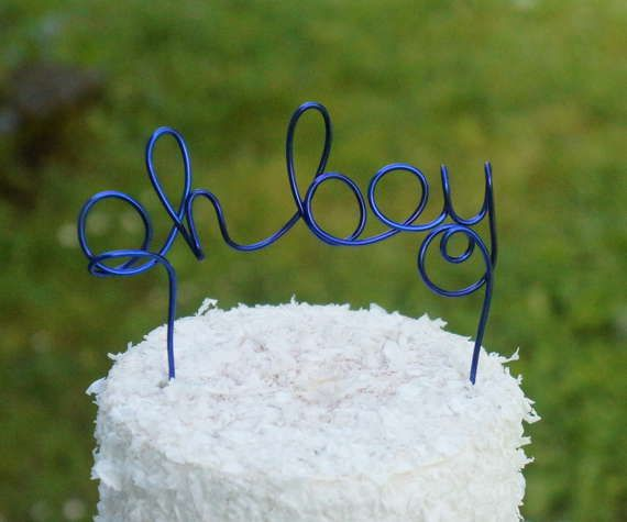 Oh Boy Cake Topper For Baby Shower