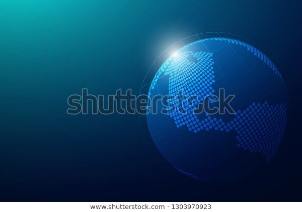 Global Network Connection Global Business World Stock Technology,Technology, Vector (Royalty Free) 1303970923