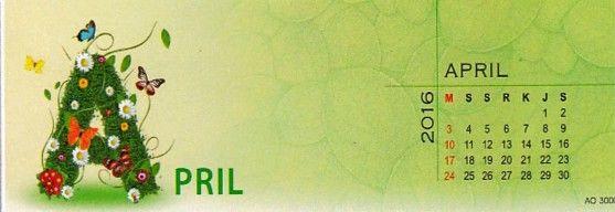 Kalender 2016 Love Nature - April
