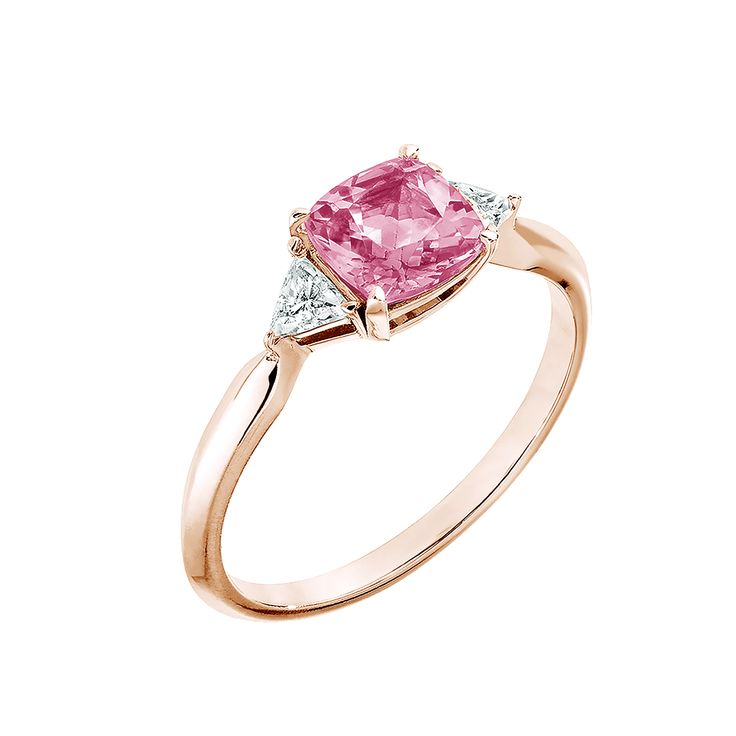 Bague Kennedy - Or rose 18 cts, Tourmaline et Diamant 1