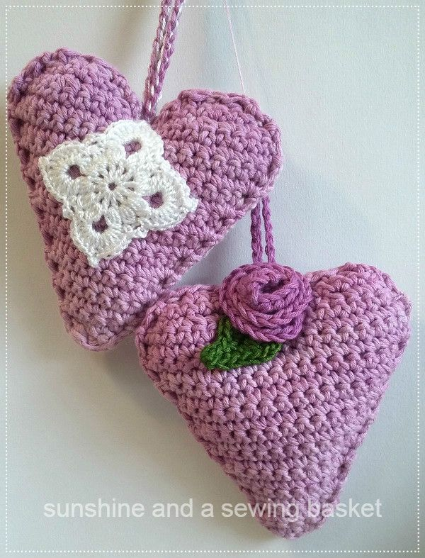 95 best crochet hearts images on Pinterest | Corazones de ganchillo ...