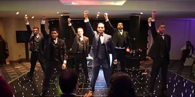 7 brothers dancing for sisters wedding
