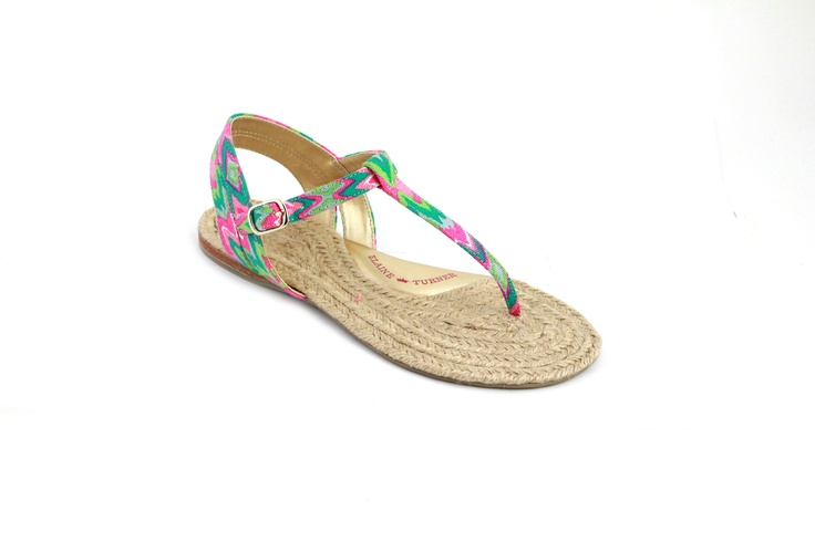 Elaine Turner Spring 2013 - Emory Sandal in Batik Print - Seychelles Collection!!