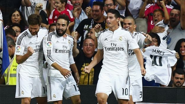Real Madrid debuta con todas sus figuras. August 25, 2014.