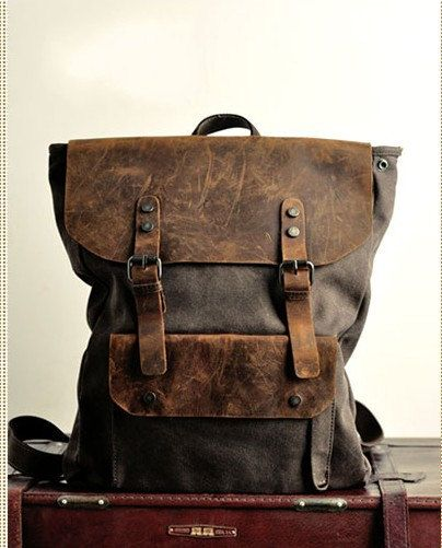 Backpack/ vintage backpack/messenger bag/
