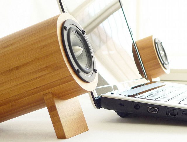 Remember when speakers were made with real wood. Great design from Well Rounded Sound