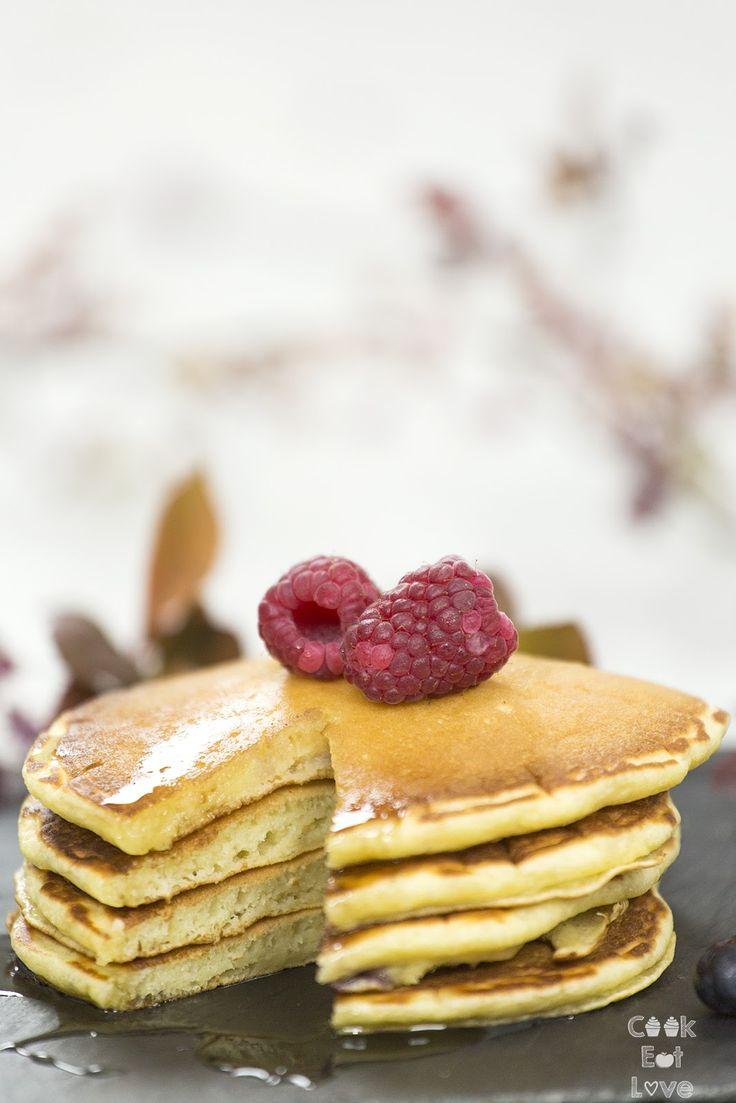 Panquecas de Iogurte e Frutos Vermelhos - Cook Eat Love