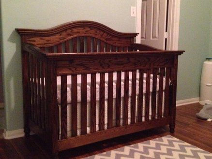 Convertible Oak Baby Crib Old Baby Cribs Baby Crib Diy